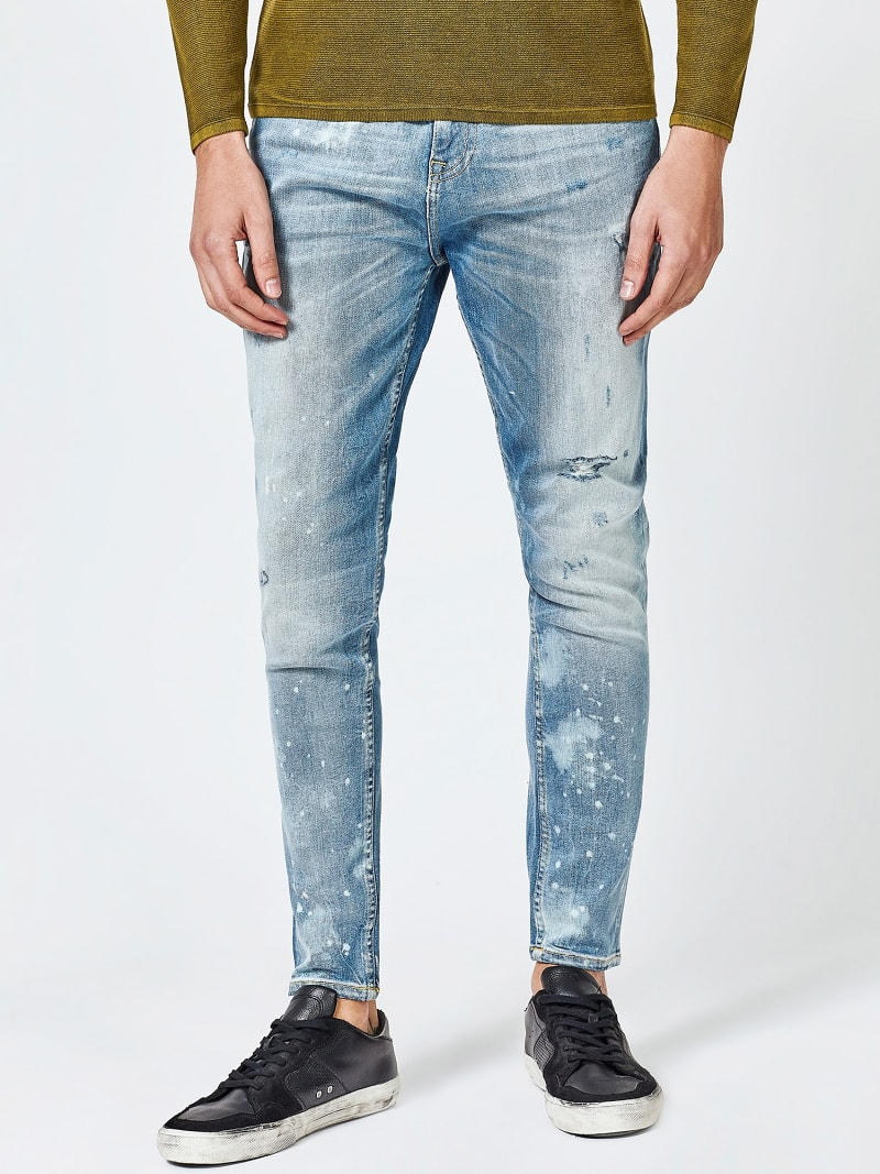REGULAR JEANS WITH ABRASIONS image number 0