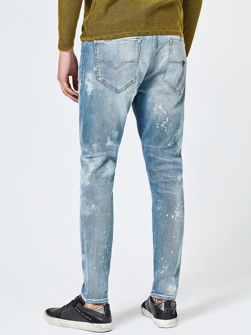 REGULAR JEANS WITH ABRASIONS image number 2