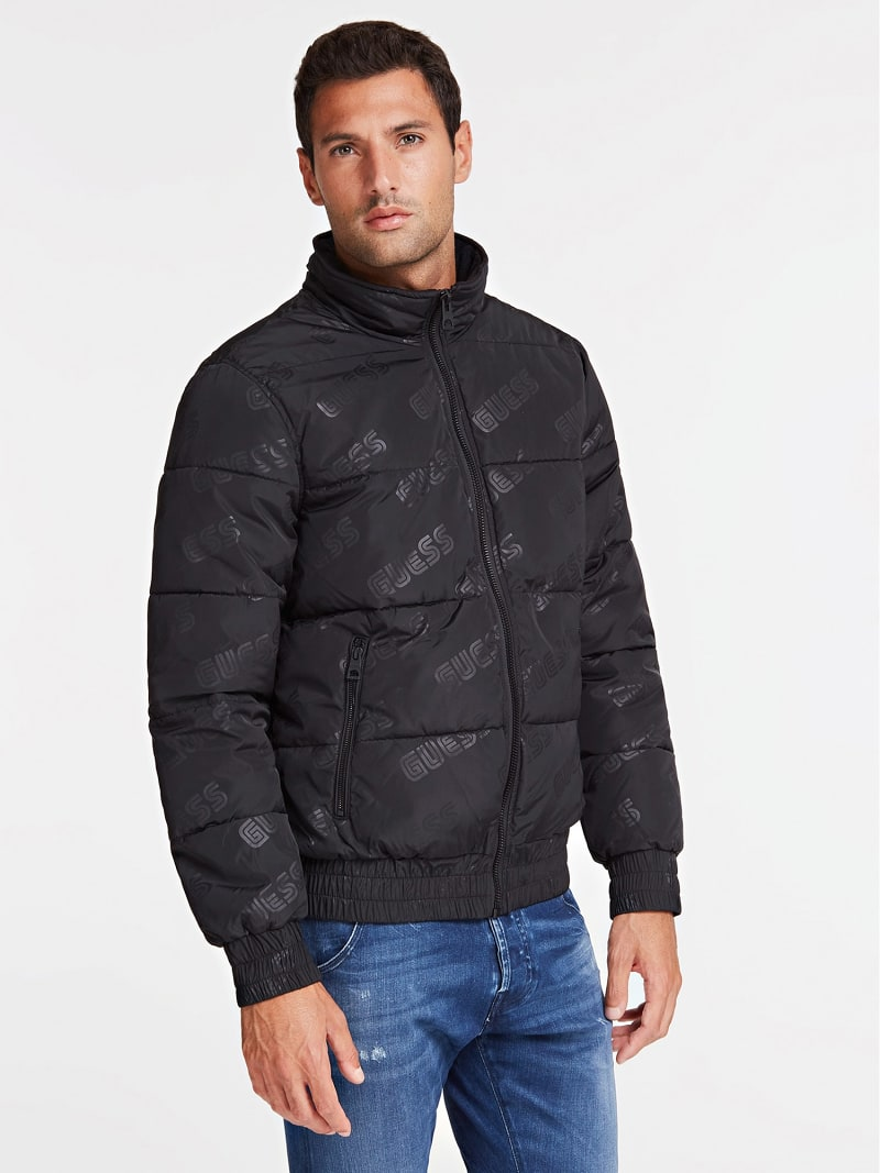 QUILTED-LOOK JACKET WITH LOGO image number 0