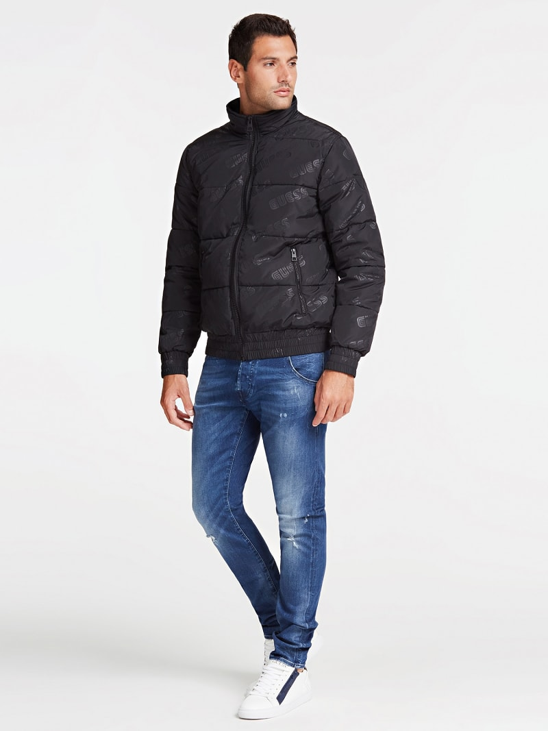 QUILTED-LOOK JACKET WITH LOGO image number 1
