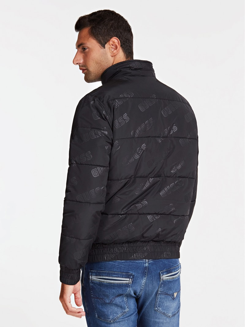QUILTED-LOOK JACKET WITH LOGO image number 2