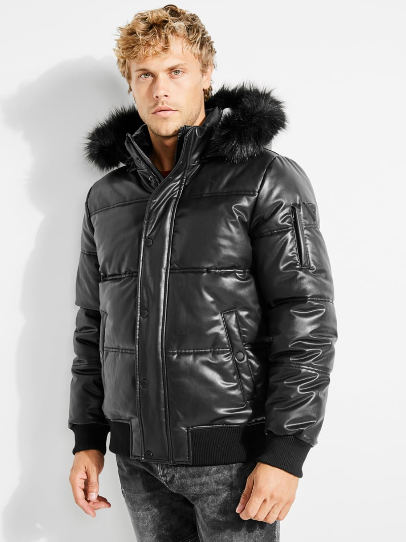 COATED-LOOK JACKET image number 4