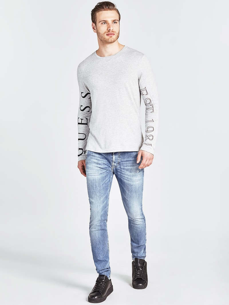 LOW-RISE SLIM JEANS image number 1