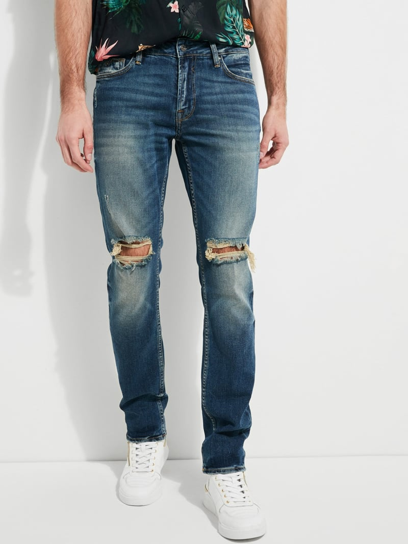 RIPPED DENIM JEANS image number 0