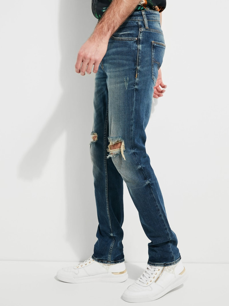 RIPPED DENIM JEANS image number 2