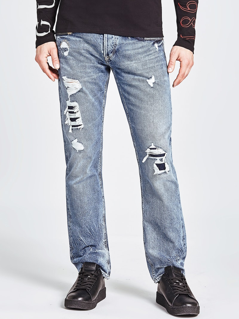 LOW-RISE SLIM JEANS image number 0