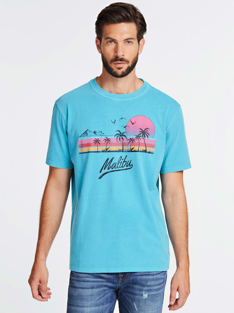 T-SHIRT WITH MALIBÙ PRINT image number 0