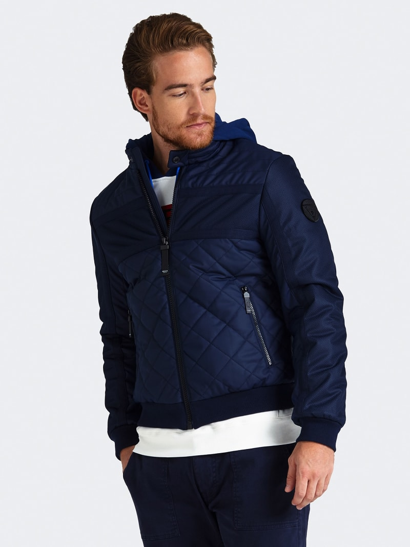 QUILTED-LOOK PADDED JACKET image number 0