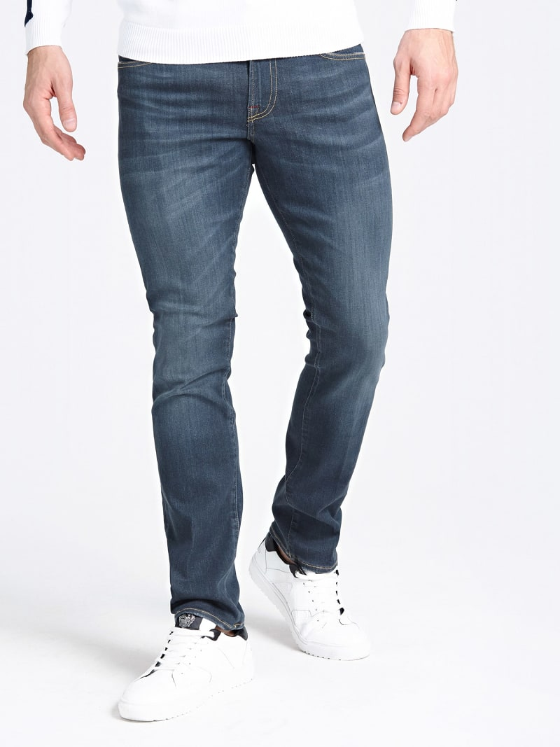 USED-LOOK SKINNY JEANS image number 0