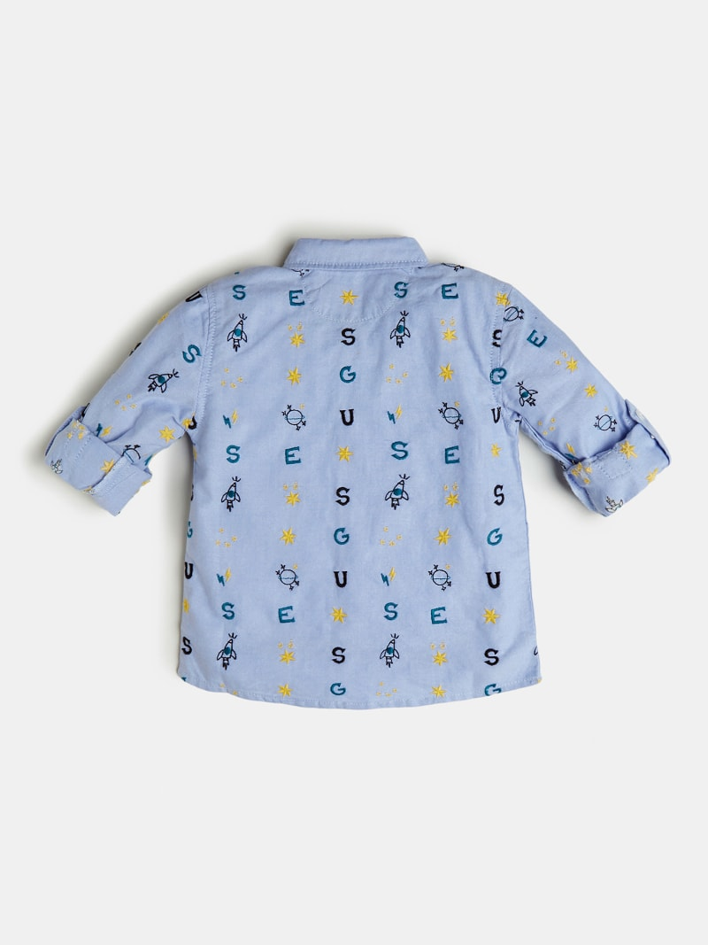 CHEMISE BRODERIE LOGO ALL-OVER image number 1