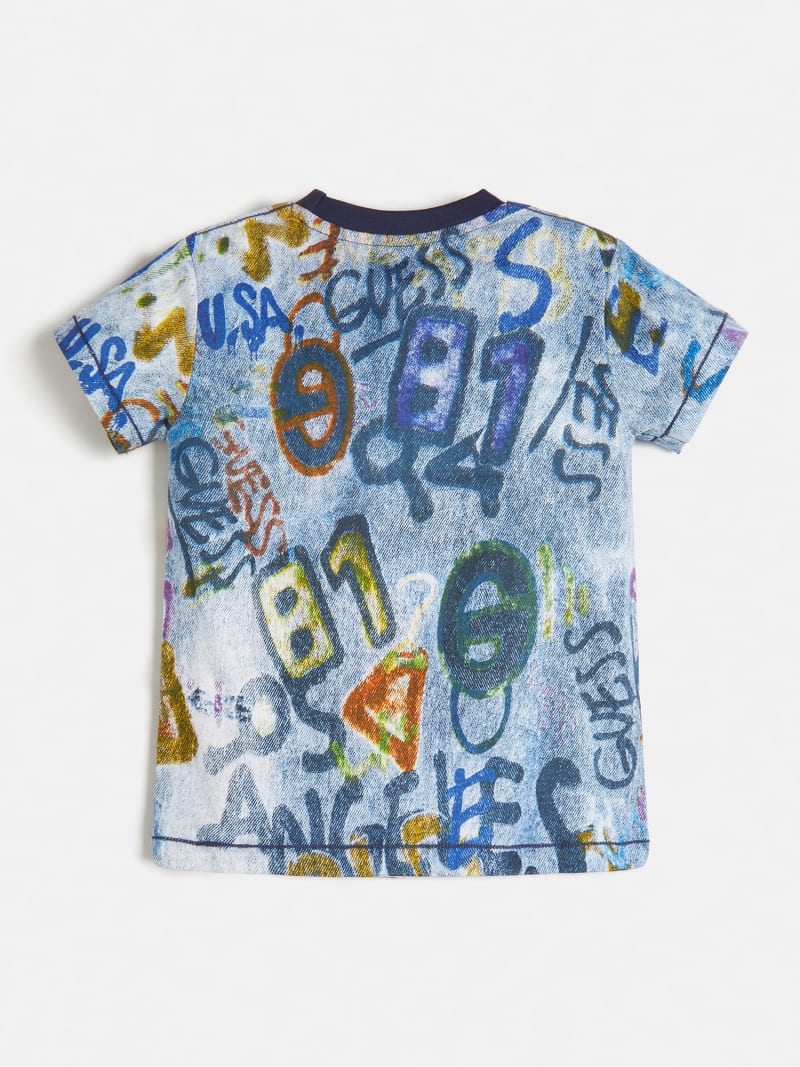 T-SHIRT JERSEY ALLOVER PRINT image number 1