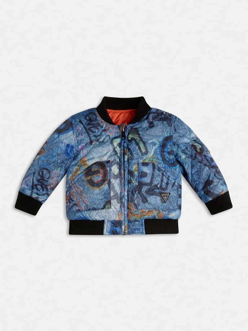 QUILTED PADDED REVERSIBLE BOMBER image number 0