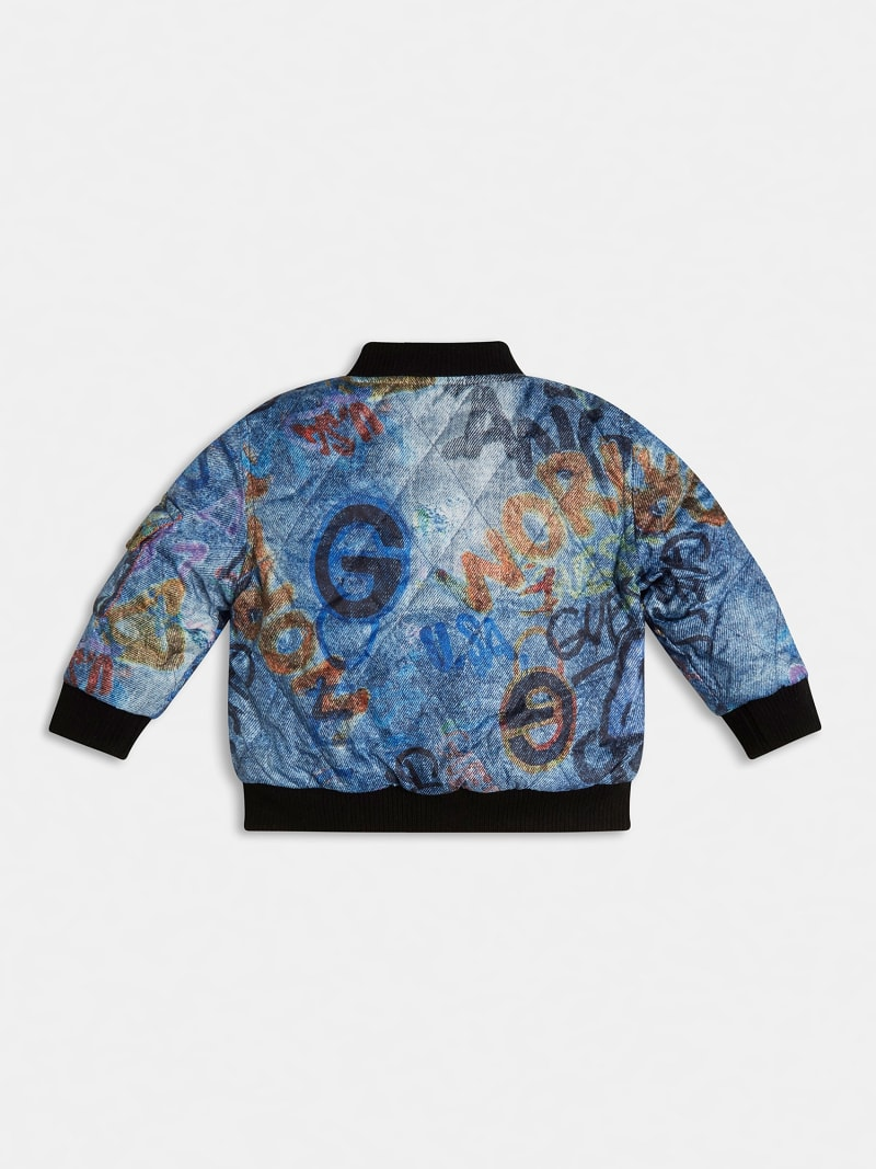 QUILTED PADDED REVERSIBLE BOMBER image number 1