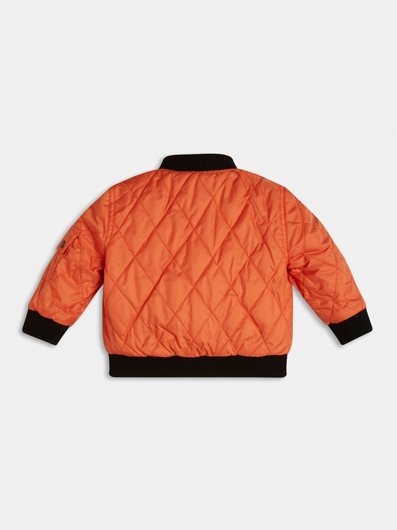 QUILTED PADDED REVERSIBLE BOMBER image number 3