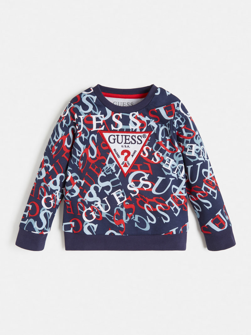 ALL OVER PRINT LOGO SWEATSHIRT image number 0
