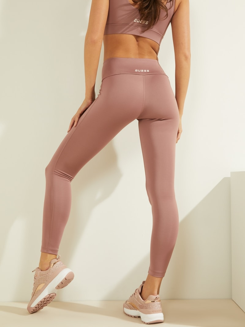 LACE UP MICROFIBER LEGGINGS image number 3