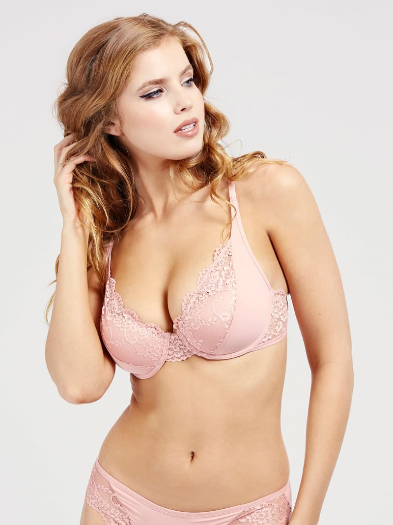 PADDED LACE NATURAL BRA image number 0