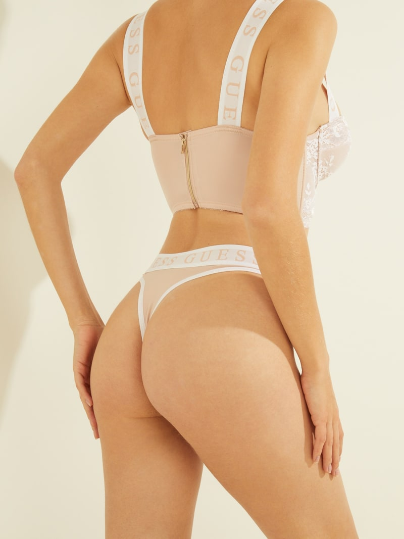 LACE LOGO ELASTIC TAPE THONG image number 3