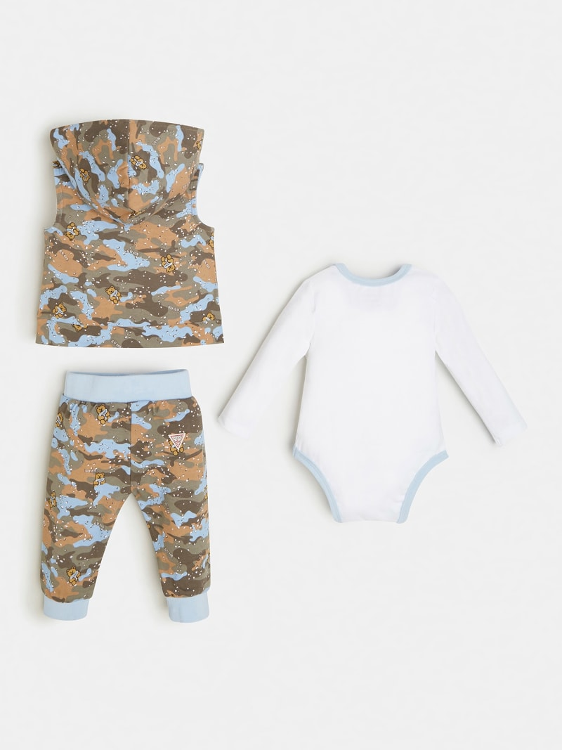 CAMOUFLAGE PRINT VEST, BODY AND PANT image number 1