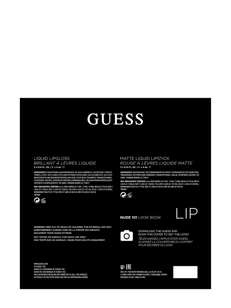 GUESS PALETTE LIPPEN-MAKE-UP NUDE image number 3