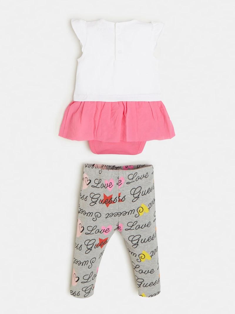 DRESS BODYSUIT AND LOGO LEGGING SET image number 1