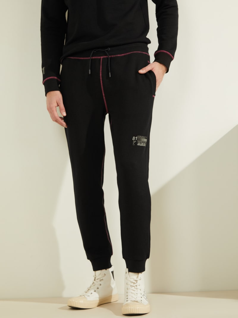 RIB FLEECE LOGO PANT image number 0