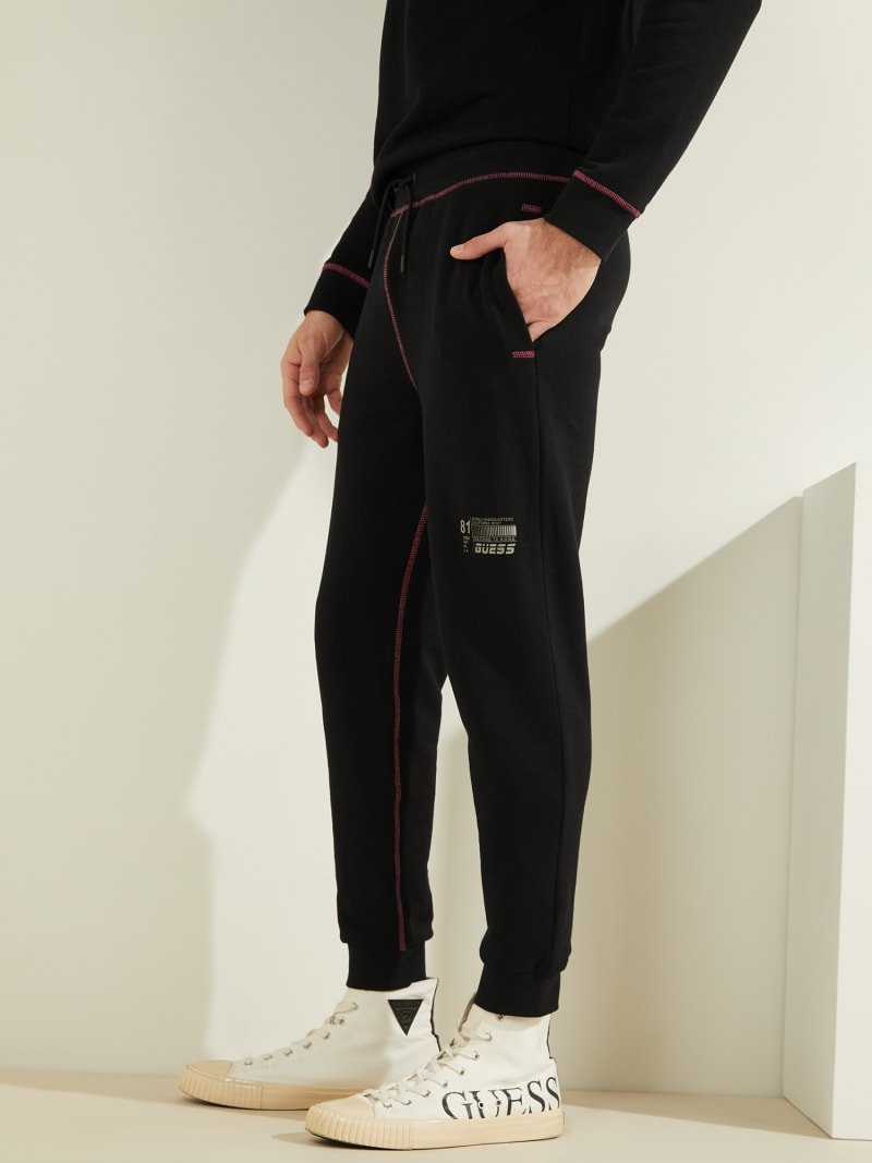 RIB FLEECE LOGO PANT image number 3