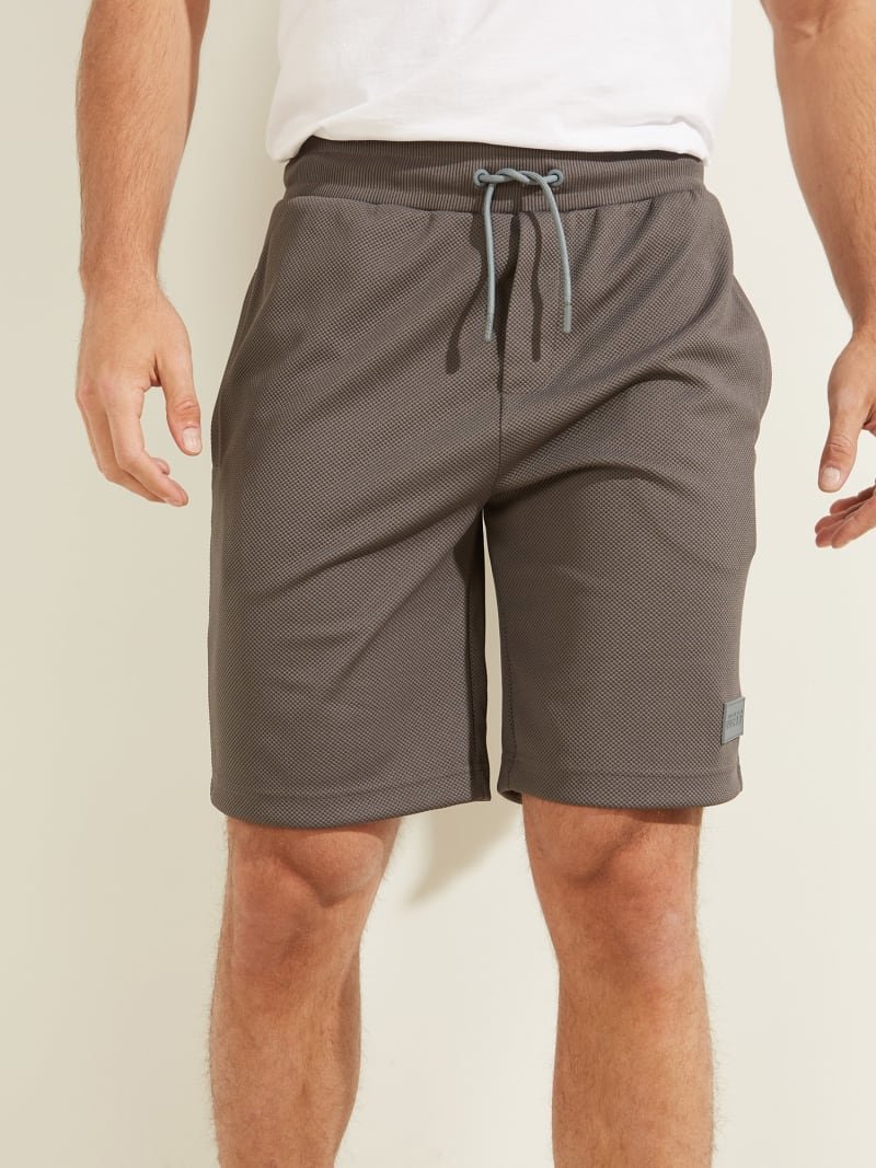 DRAWSTRING PIQUET SHORT PANT image number 0