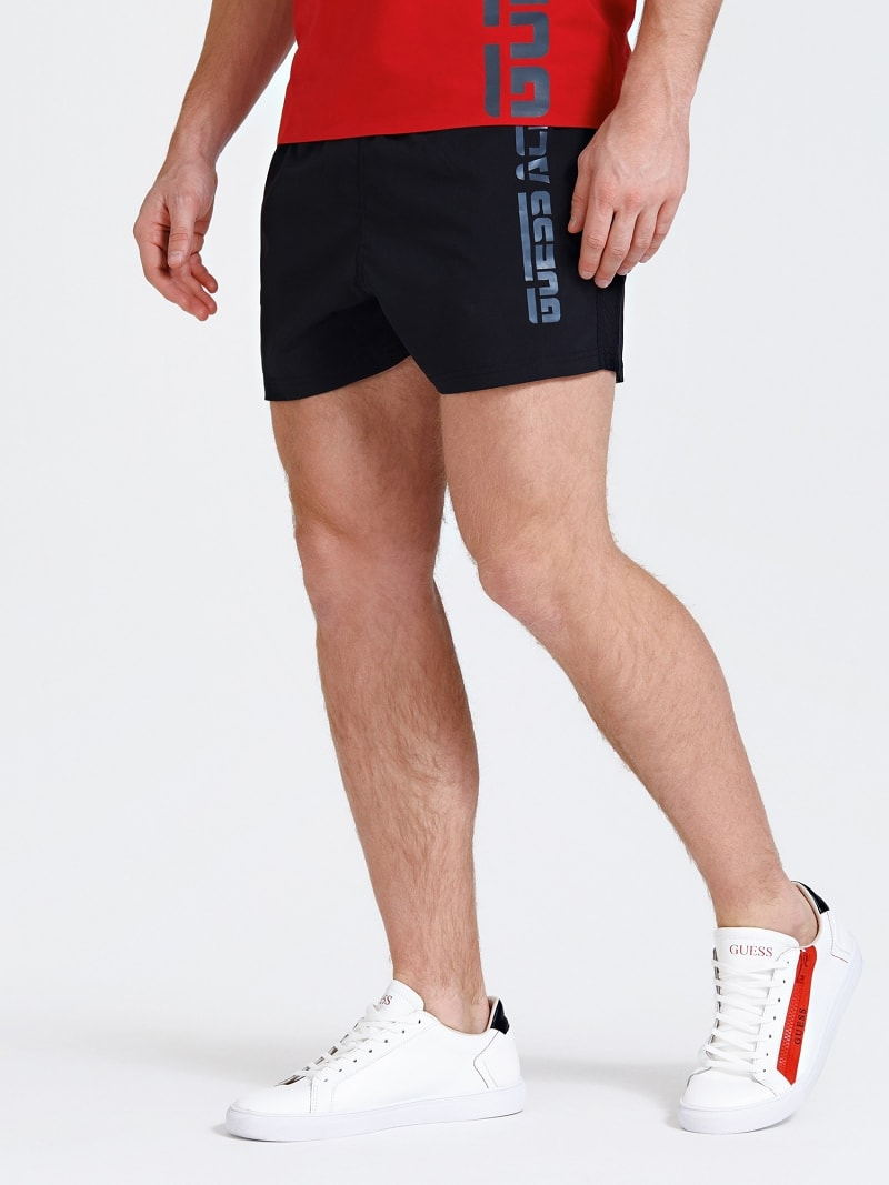 SPORTS SHORTS WITH SIDE LOGO PRINT image number 0