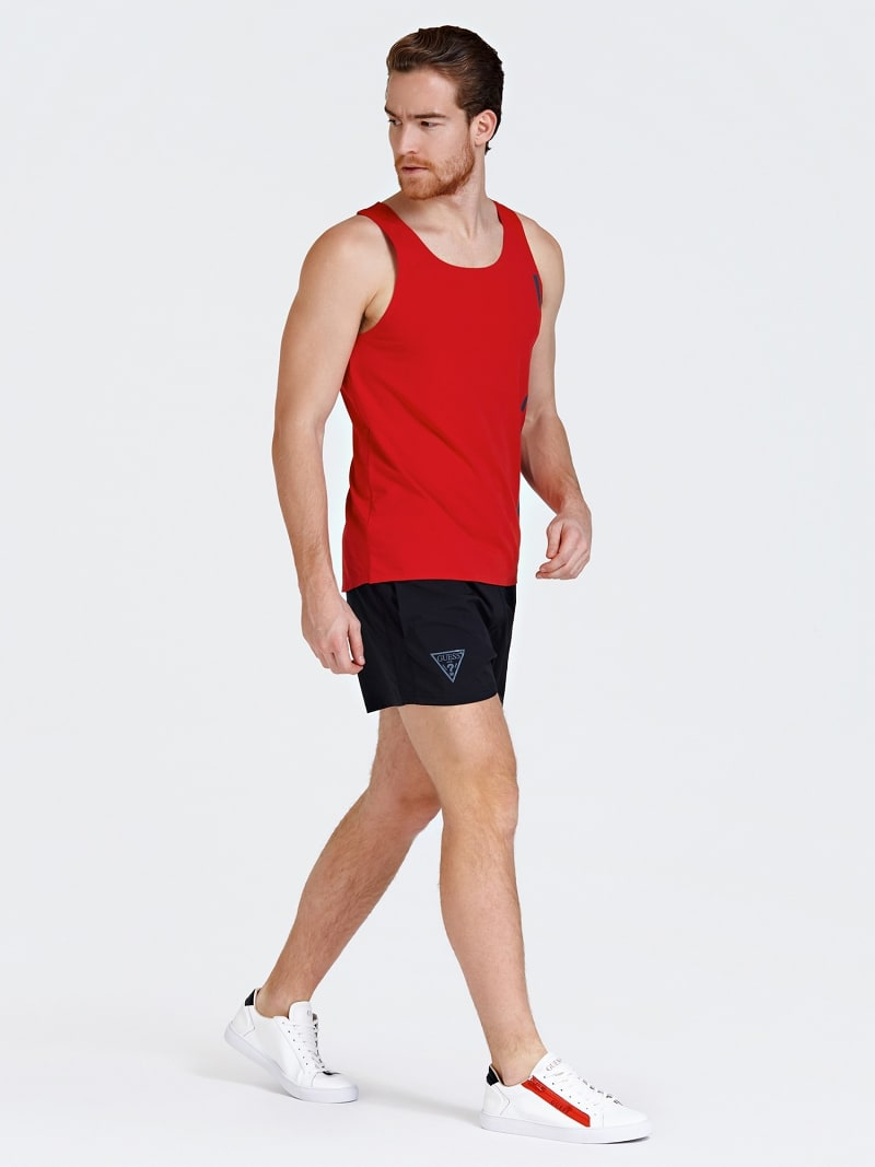 SPORTS SHORTS WITH SIDE LOGO PRINT image number 1