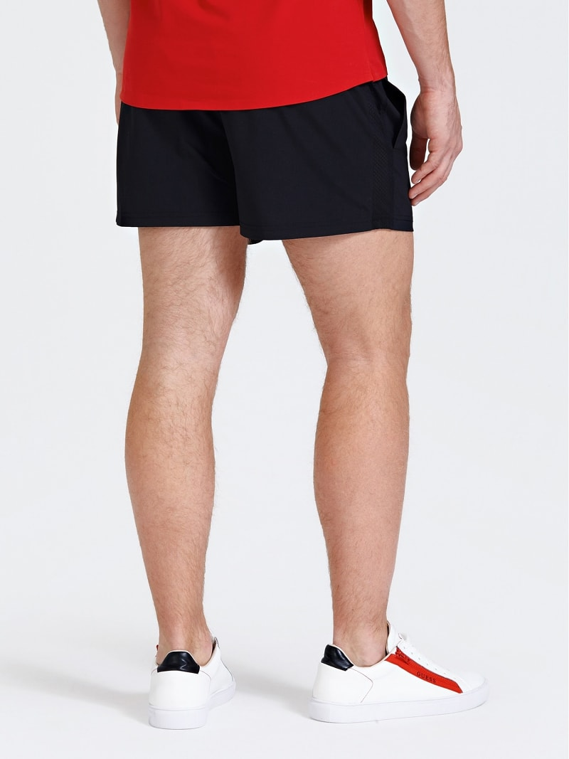 SPORTS SHORTS WITH SIDE LOGO PRINT image number 2