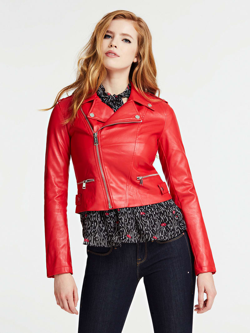 FAUX LEATHER JACKET image number 0