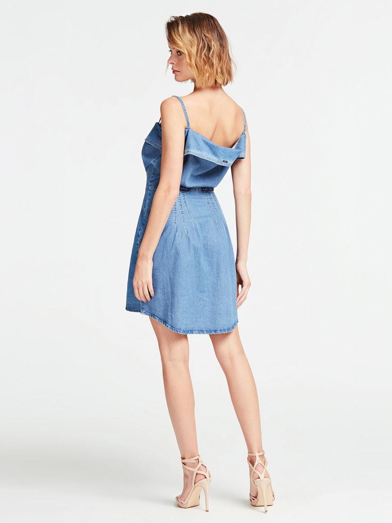 SLIM FIT DENIM DRESS image number 1