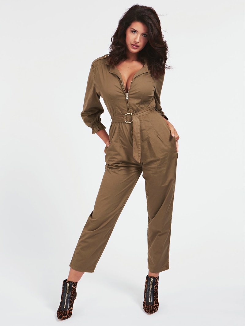 BELTED RELAXED FIT JUMPSUIT image number 0