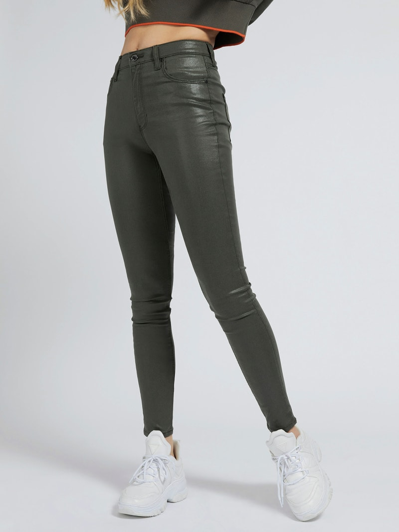 COATED SKINNY FIT PANT image number 0