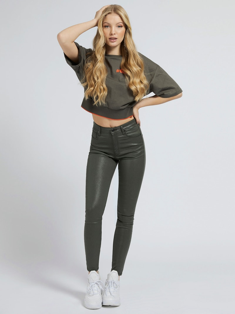 COATED SKINNY FIT PANT image number 1
