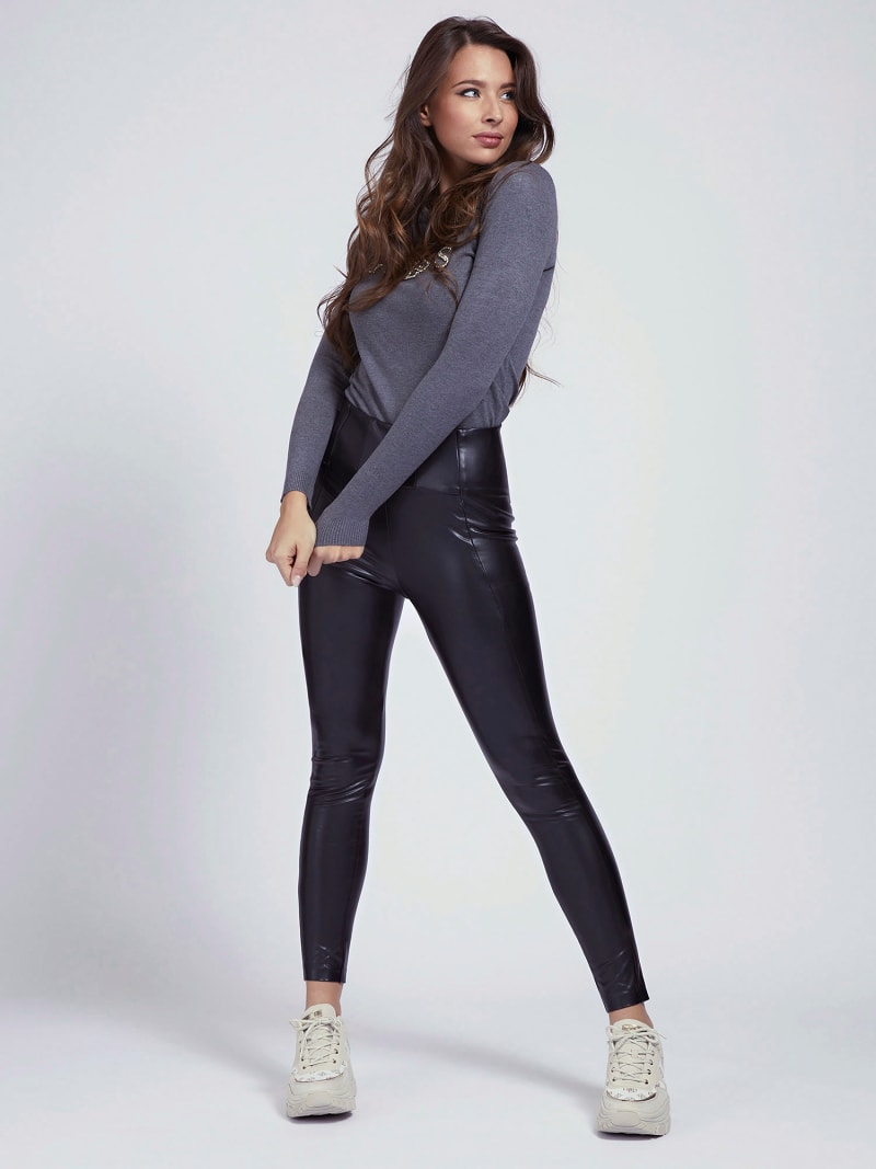 LEGGING SIMILCUIR image number 1