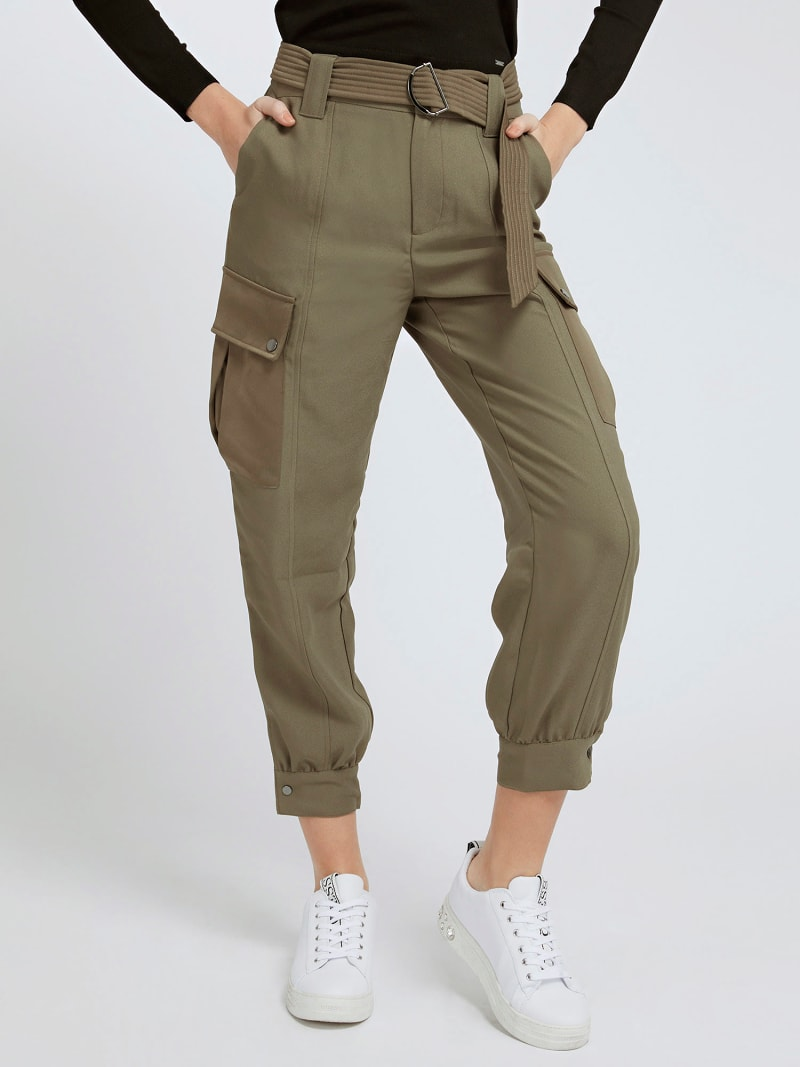CARGO FIT SATIN PANT image number 0