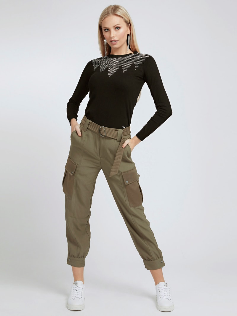 CARGO FIT SATIN PANT image number 1