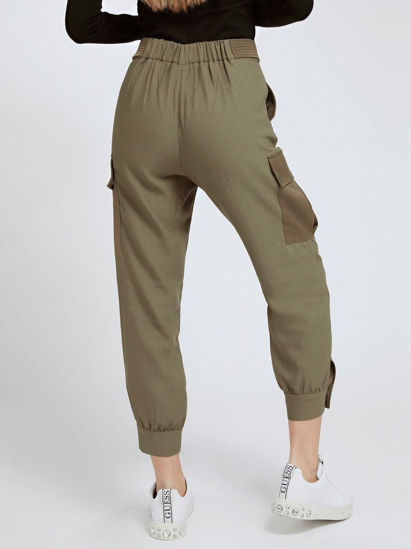 CARGO FIT SATIN PANT image number 2