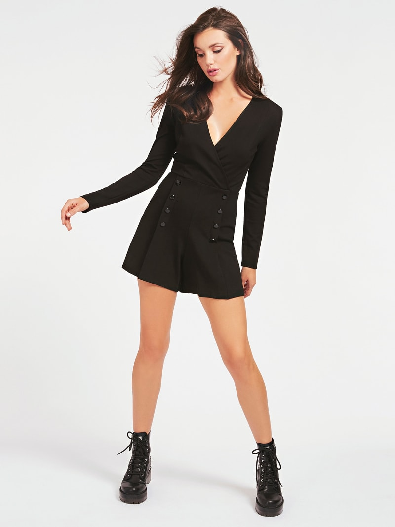 PONTE KNIT MINI ROMPER image number 0