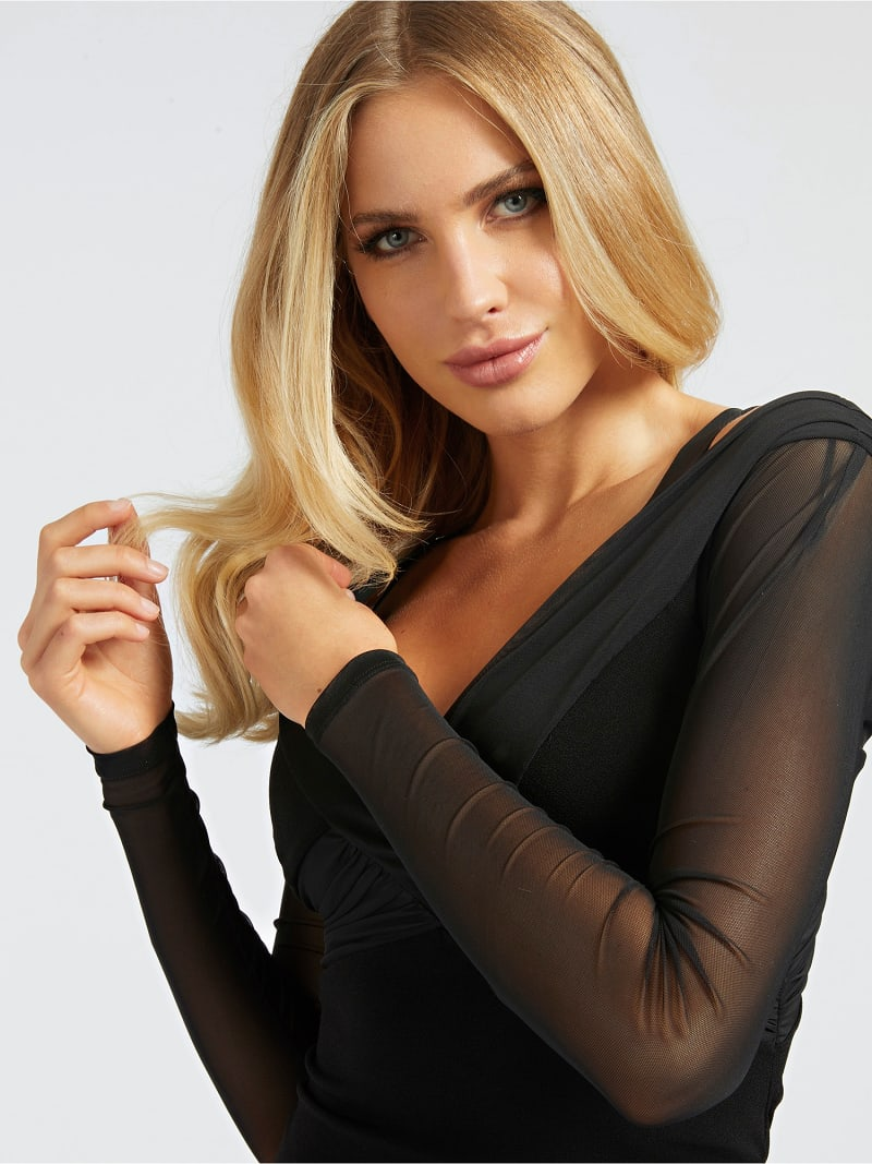 SHEER SLEEVE DRESS image number 2