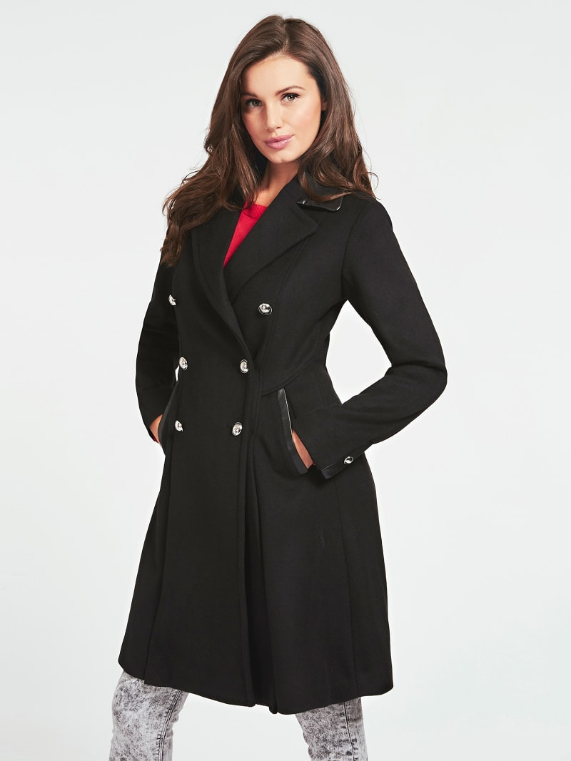 DOUBLE BREAST FASTENING WOOL BLEND COAT image number 0
