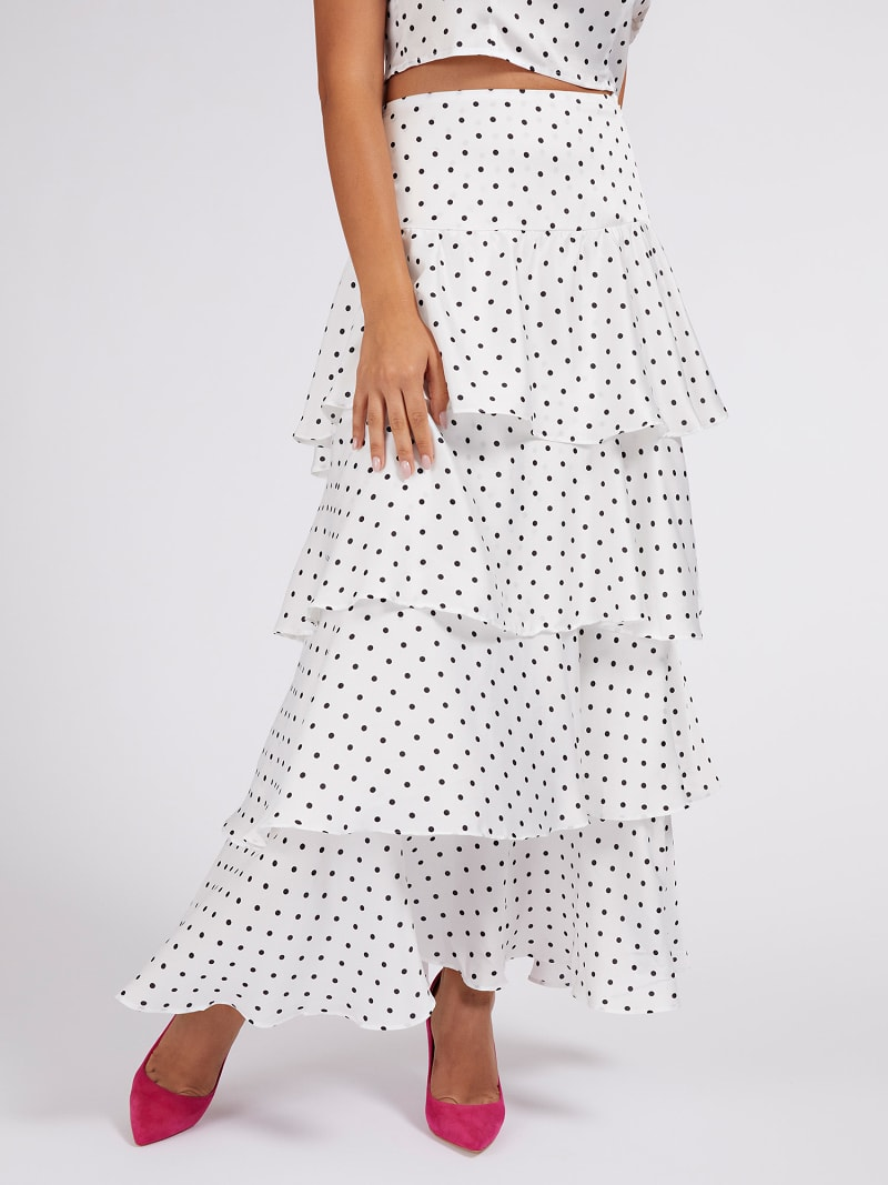 LONG TIERED FRILL SKIRT image number 0