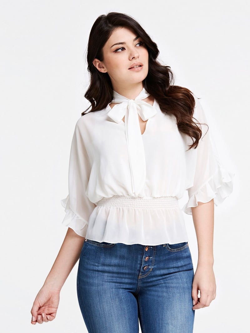 BLOUSE BOW AT THE COLLAR image number 0