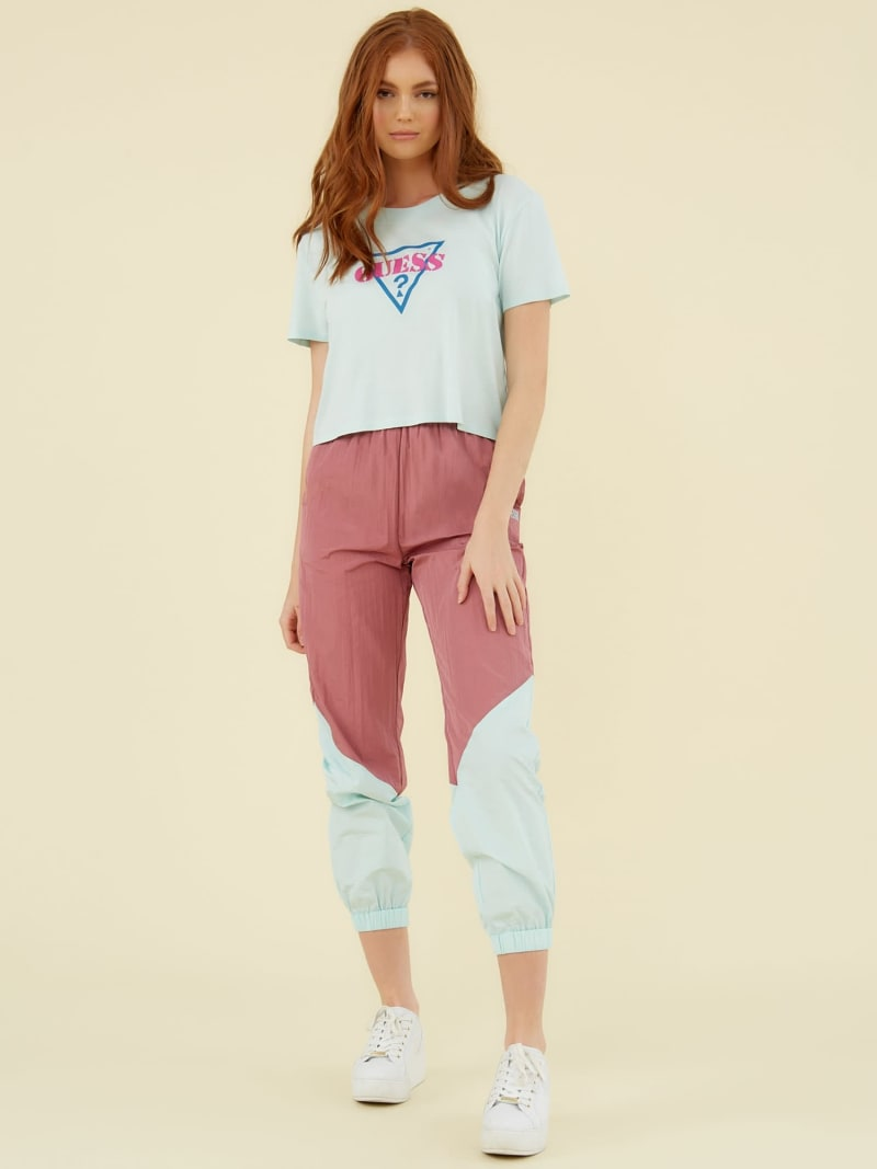 TRIANGLE LOGO CROP TOP image number 2