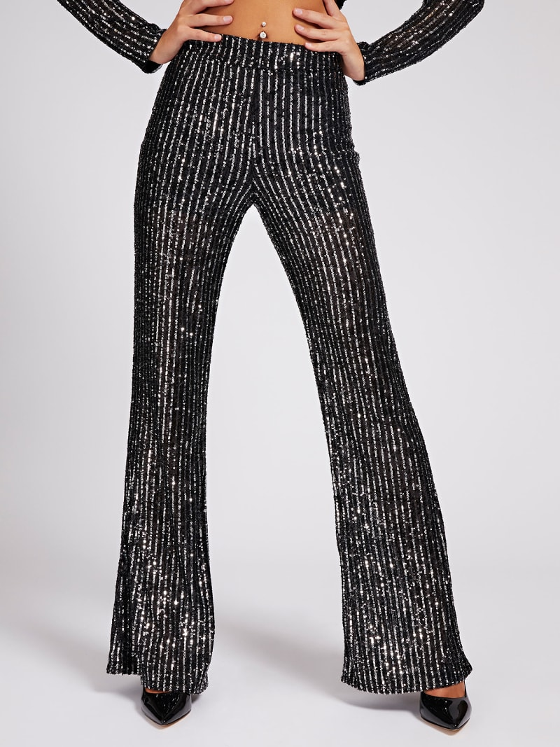 FLARED SEQUIN PANTS image number 0