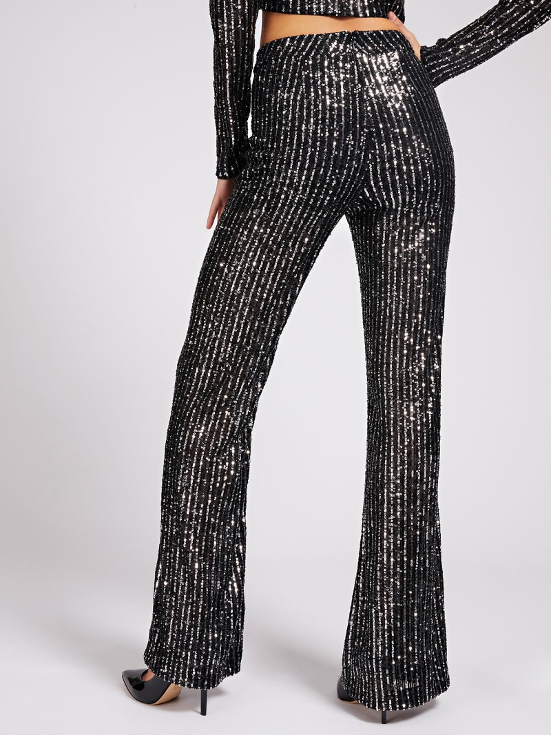FLARED SEQUIN PANTS image number 2