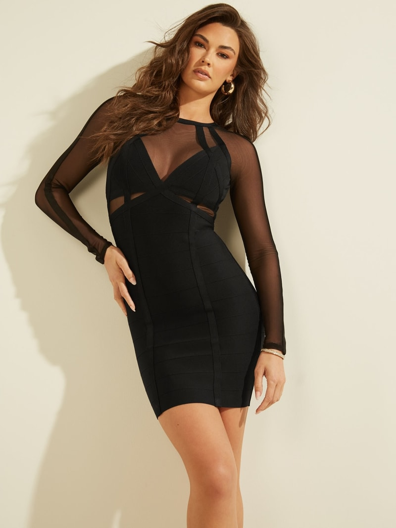 BANDAGE DRESS MESH INSERTS image number 0
