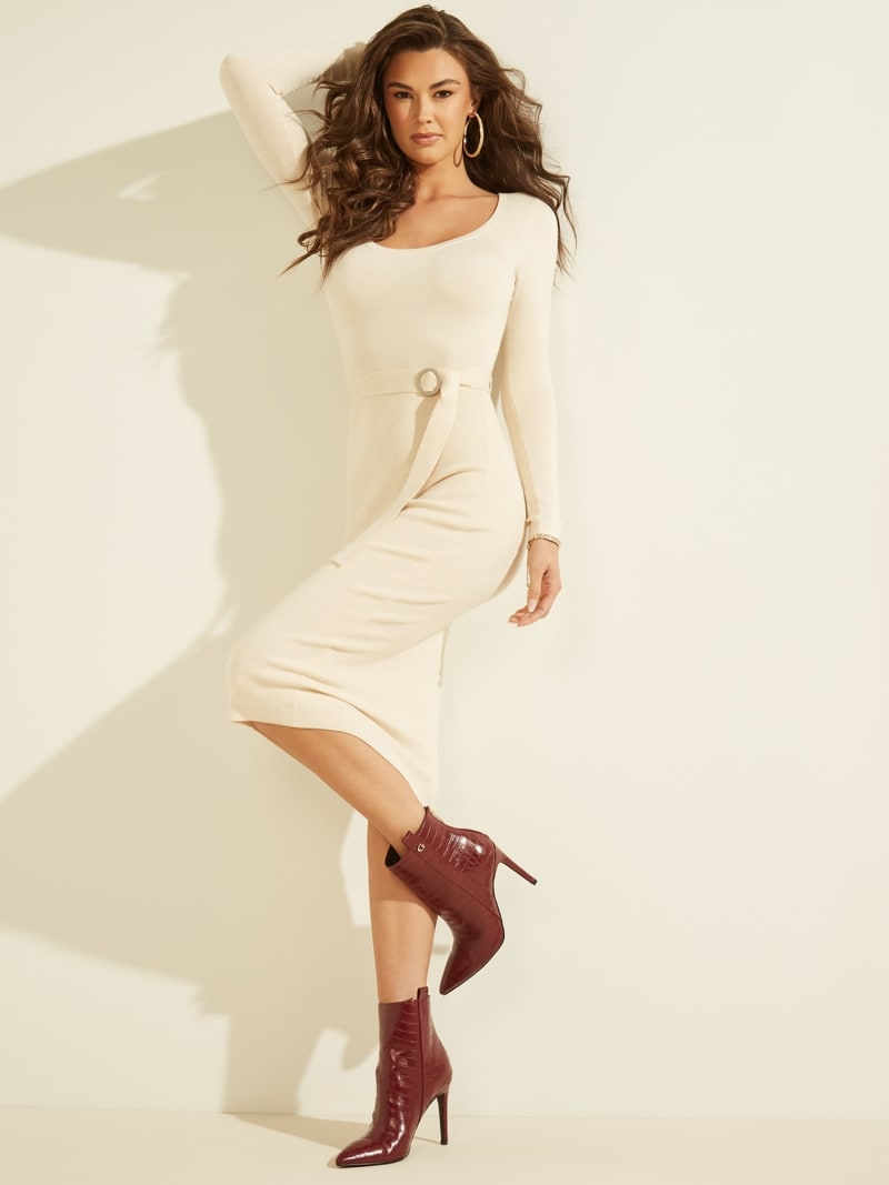 BELTED RIB KNIT DRESS image number 1